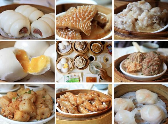 广州美食烧卖手绘