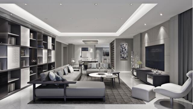 灰色系客厅装修风格